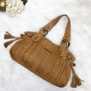 *Isabella Fiore Tan Leather Hobo Bag